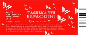 Tageskarte Landesgartenschau Würzburg 2018 (ab 30 St. versandkostenfrei, Versandkosten € 3,- werden im Shop nicht angezeigt)